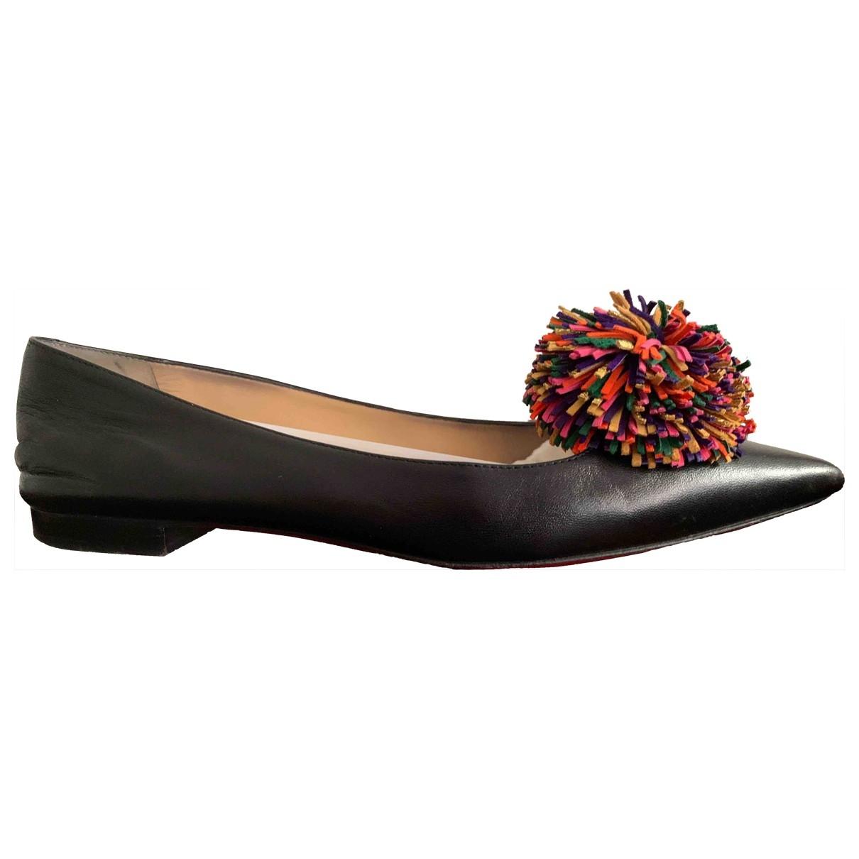 Christian Louboutin - Ballerines   pour femme en cuir - noir