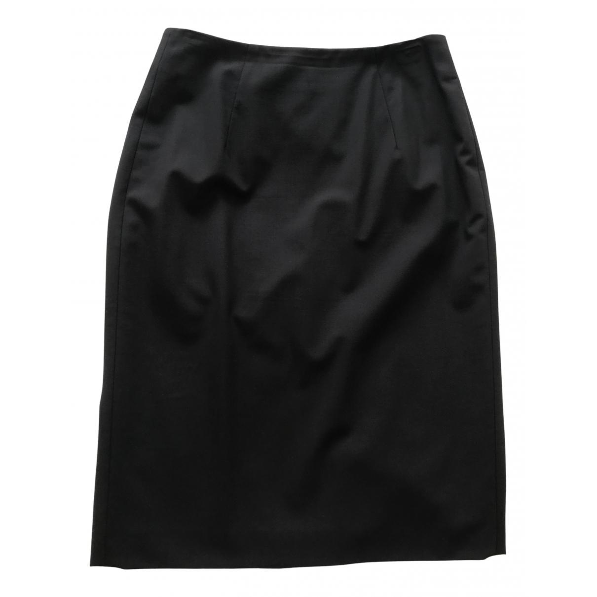Hugo Boss - Jupe   pour femme en laine - noir