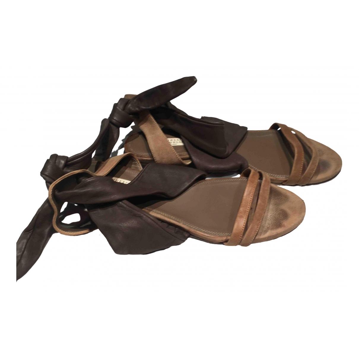 Brunello Cucinelli \N Brown Leather Sandals for Women 39 EU