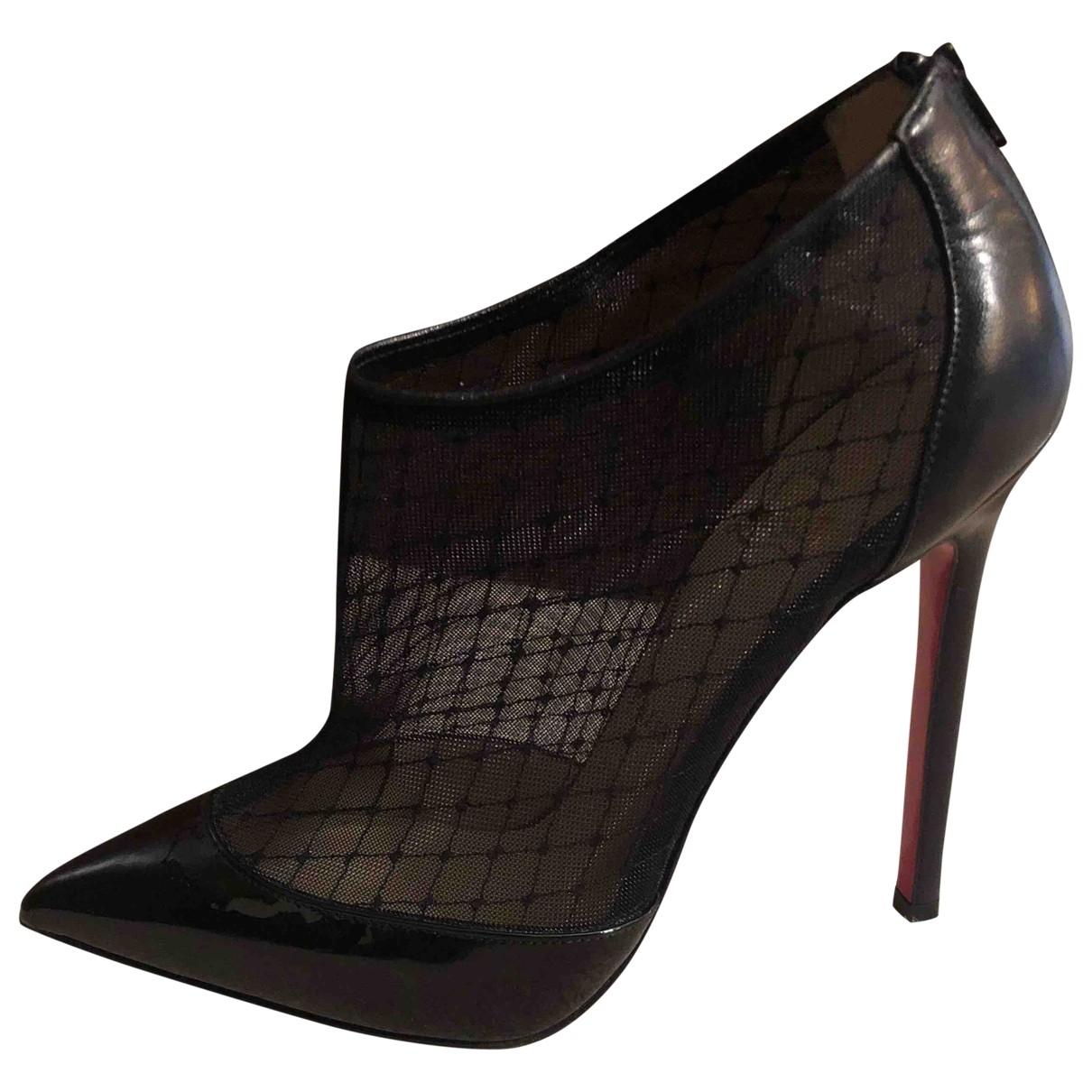 Christian Louboutin - Boots   pour femme en toile - noir