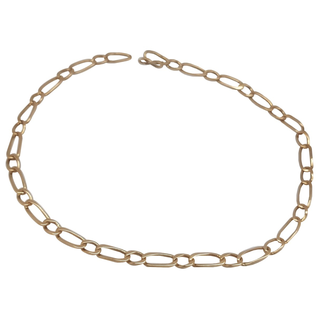 Non Signe / Unsigned Gourmette Armband in  Gelb Gelbgold
