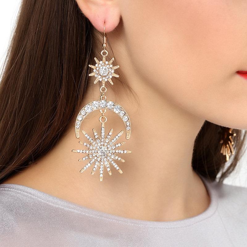 Ericdress Diamante European Gift Earrings