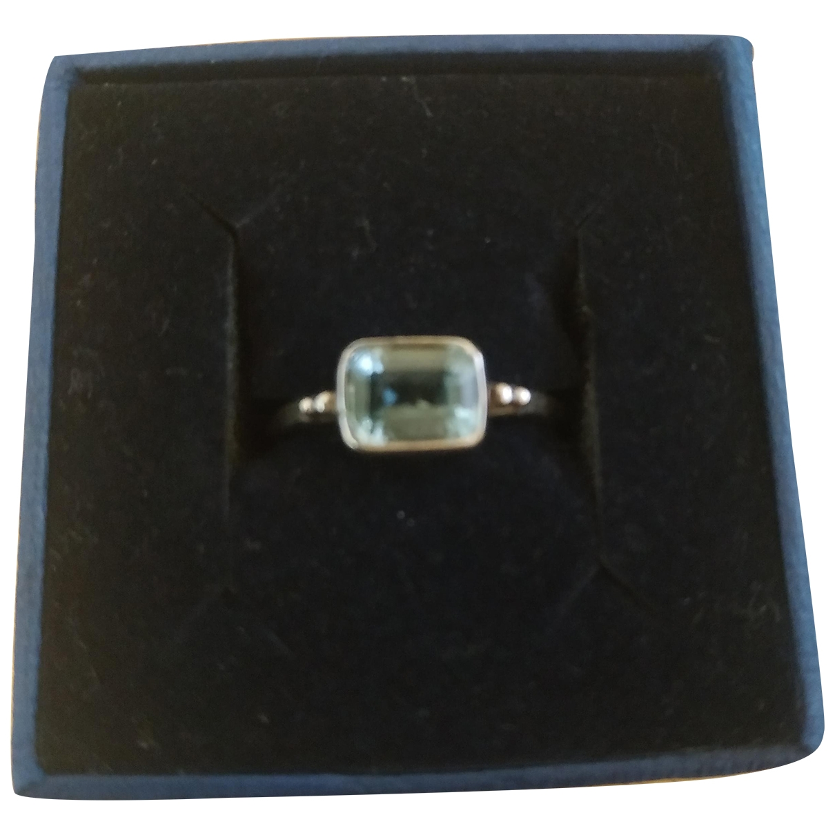 Non Signé / Unsigned Aigues-Marines Blue Silver ring for Women 57 MM