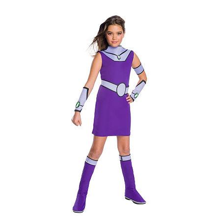 Teen Titan Go Movie Girls Starfire Deluxe Costume, Medium , Multiple Colors