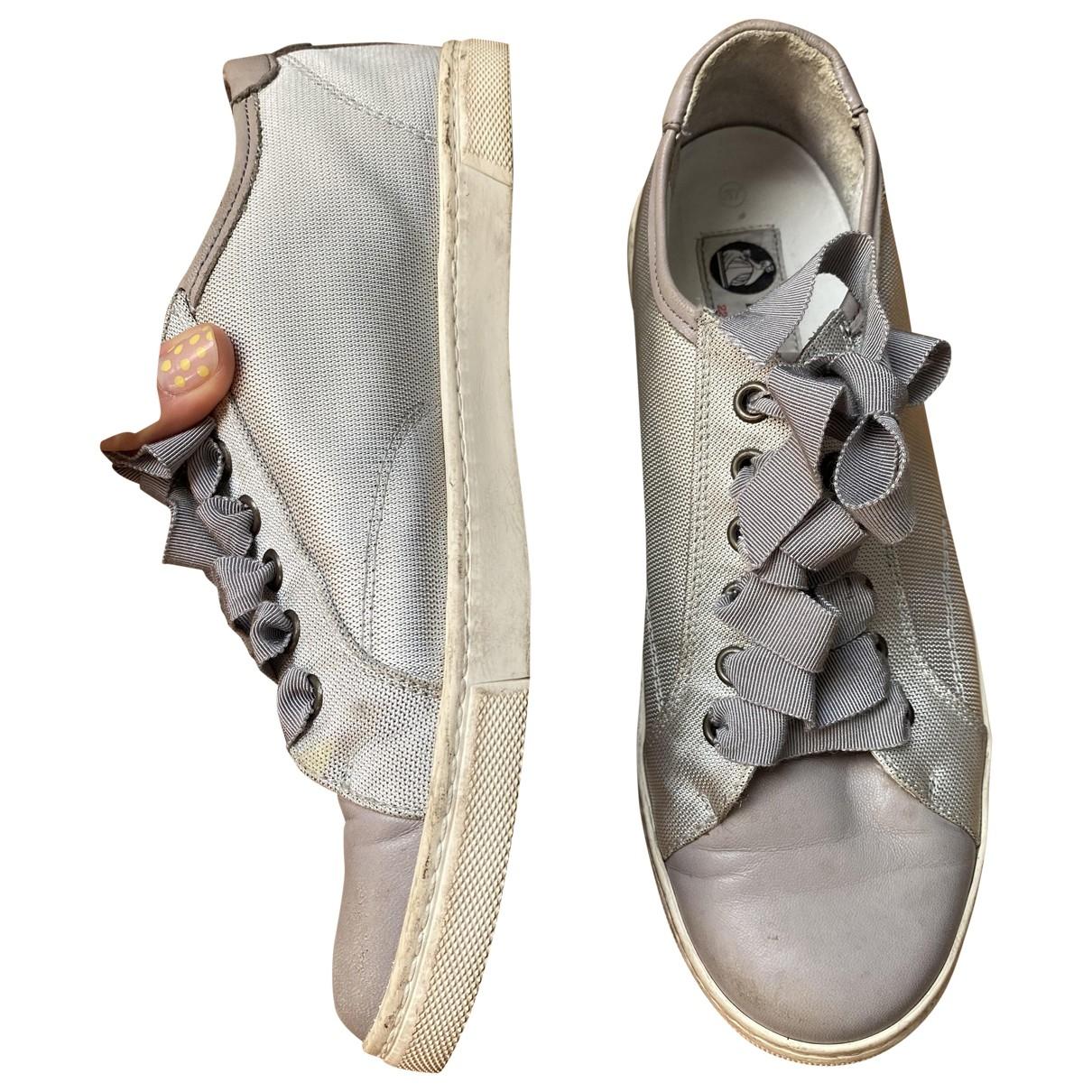 Lanvin \N Sneakers in  Grau Leinen