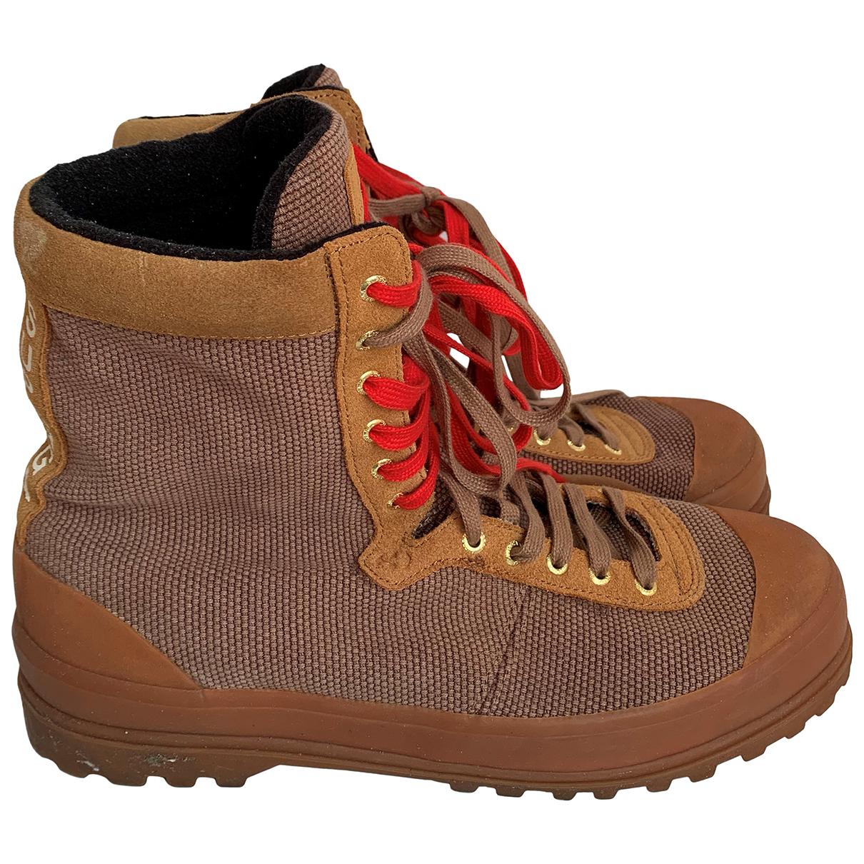 Superga \N Camel Cloth Boots for Men 44 EU