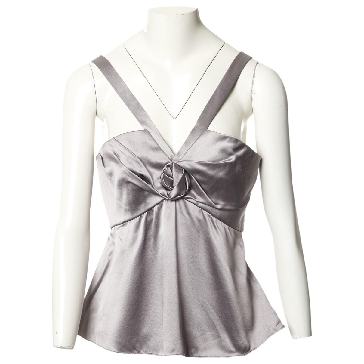 Dior \N Grey Silk  top for Women 40 FR