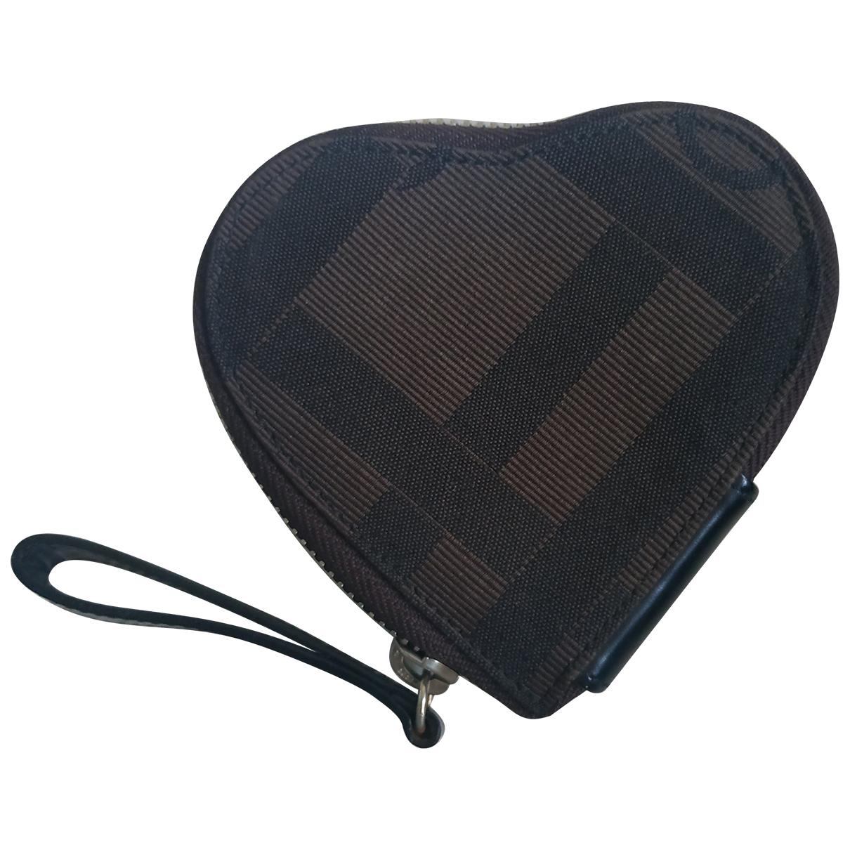 Lancel - Portefeuille   pour femme en coton - marron