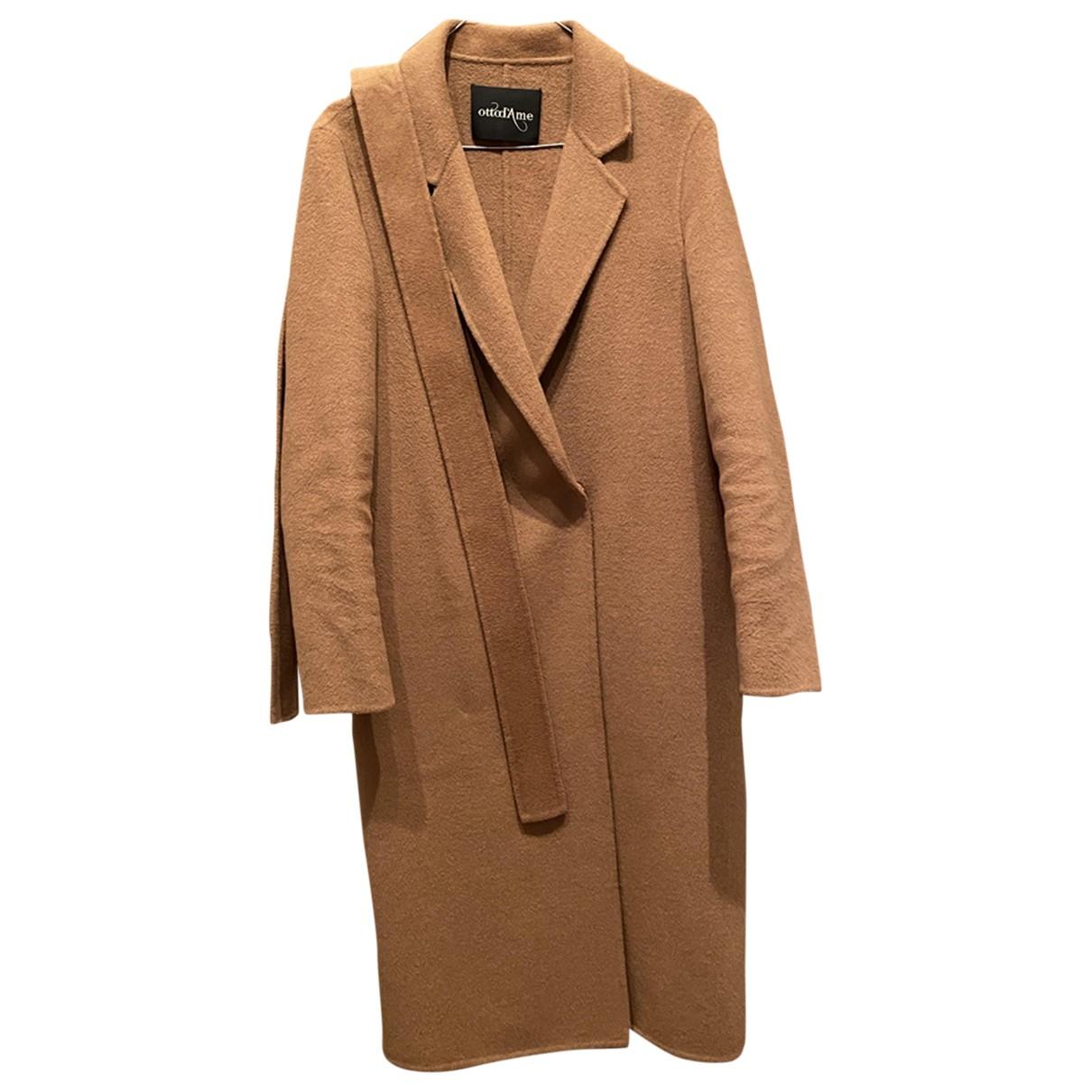 Ottod'ame \N Beige Wool coat for Women 40 IT