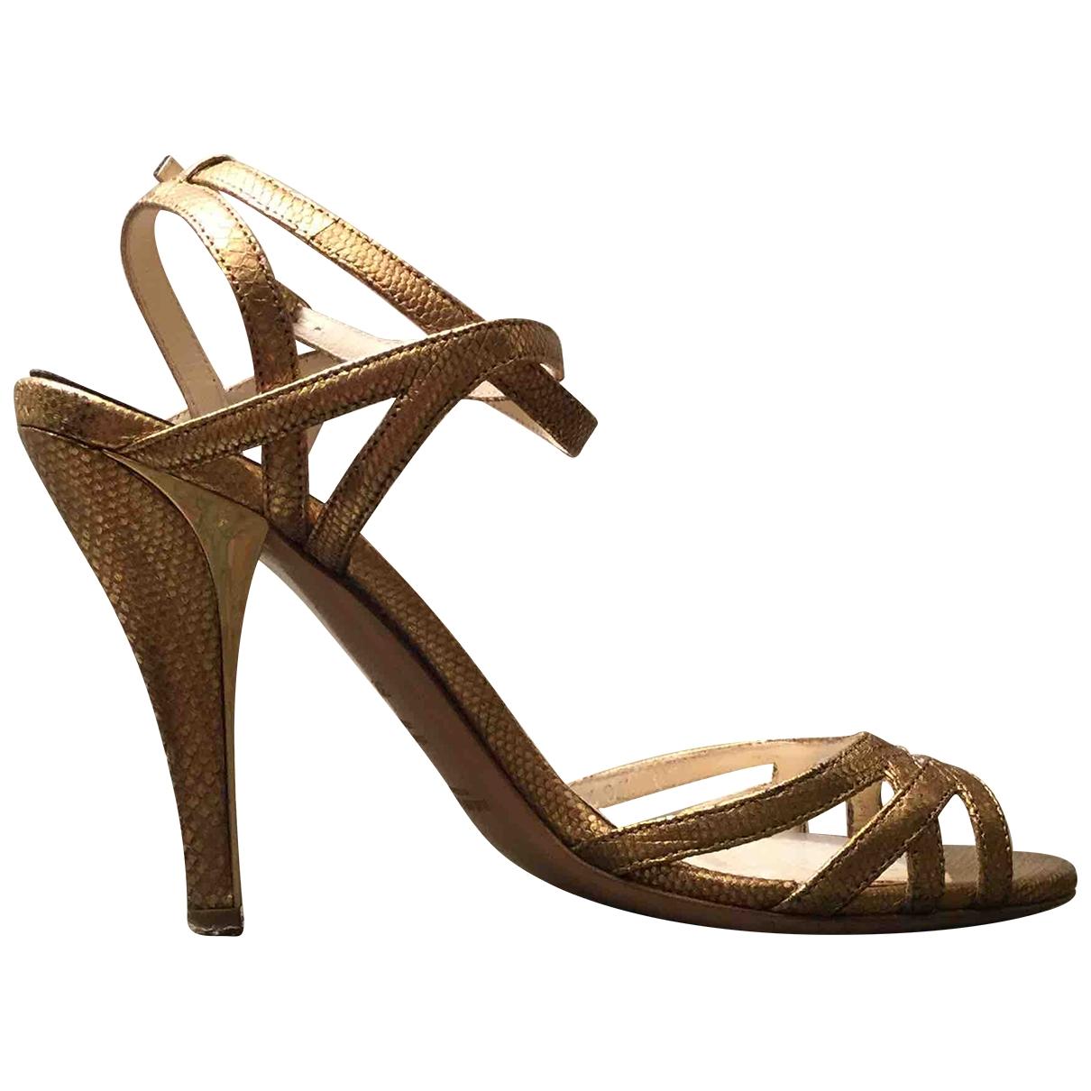 Ralph Lauren Collection \N Sandalen in  Gold Leder