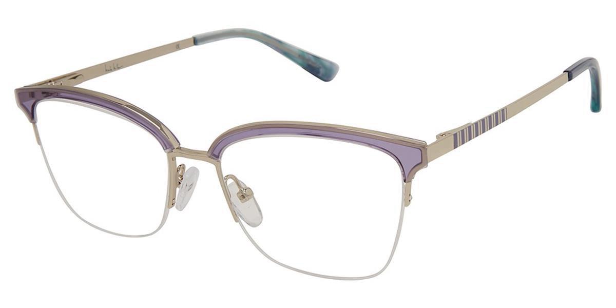 Nicole Miller CANNES C03 Women's Glasses Violet Size 53 - Free Lenses - HSA/FSA Insurance - Blue Light Block Available