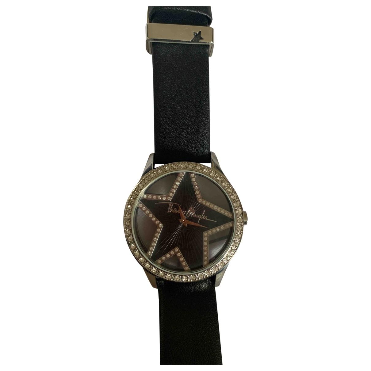 Thierry Mugler \N Uhr in  Schwarz Stahl