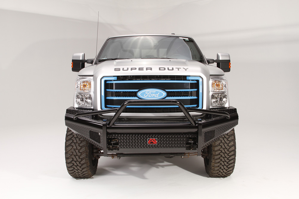 Fab Fours FS08-S1962-1 08-10 Ford Super Duty Front Ranch Bumper w/Pre-Runner Guard (F-250 - F-550) w/Tow Hooks