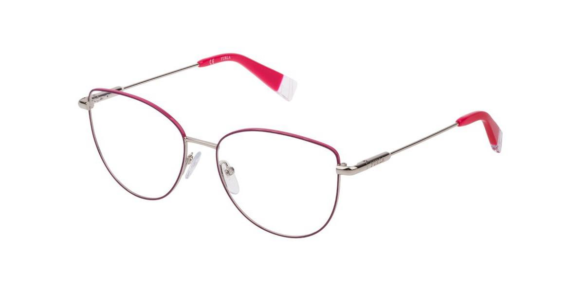 Furla VFU301 0N54 Men's Glasses Red Size 54 - Free Lenses - HSA/FSA Insurance - Blue Light Block Available