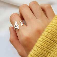 Music Note Design Ring 1pc