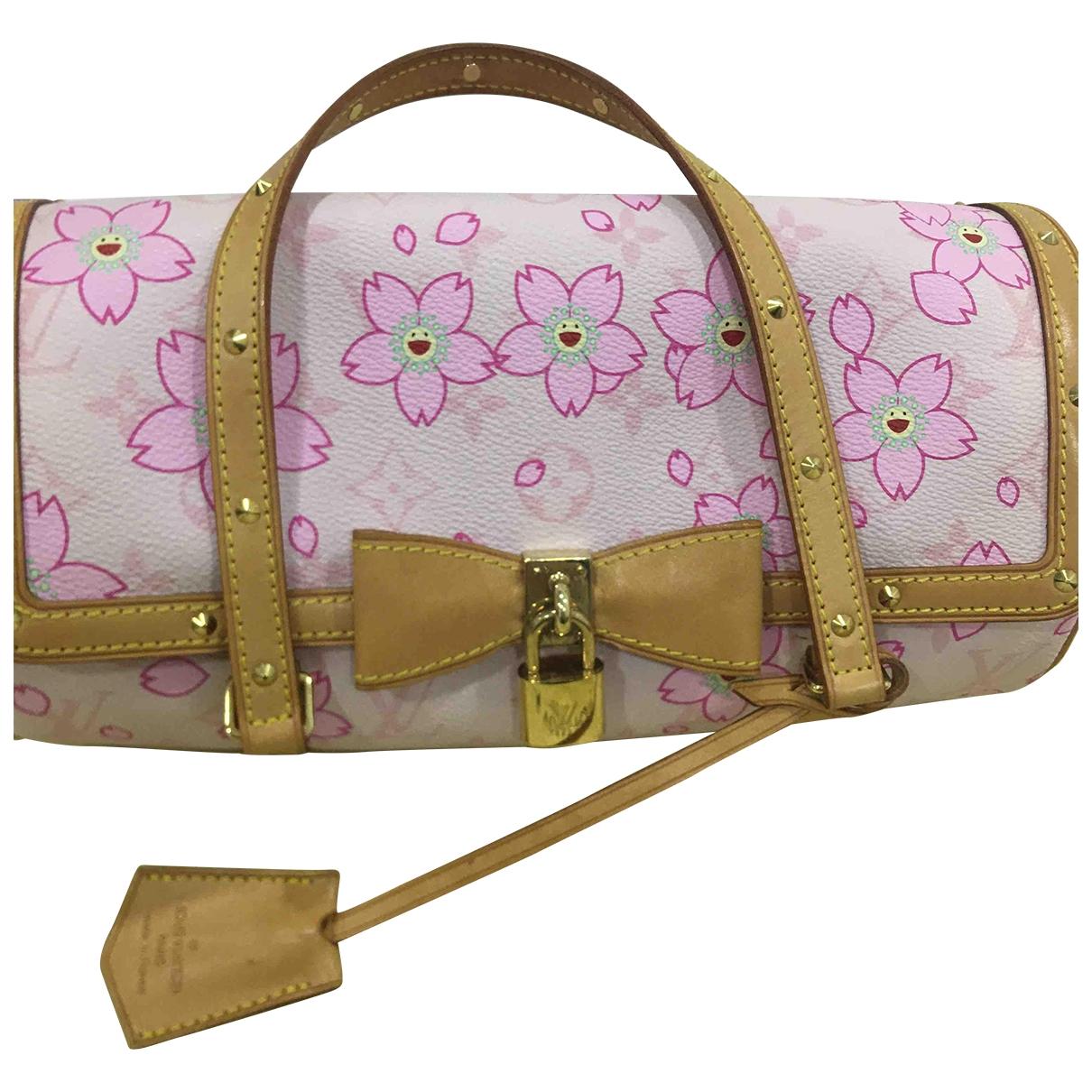 Louis Vuitton Papillon Pink Cloth handbag for Women \N