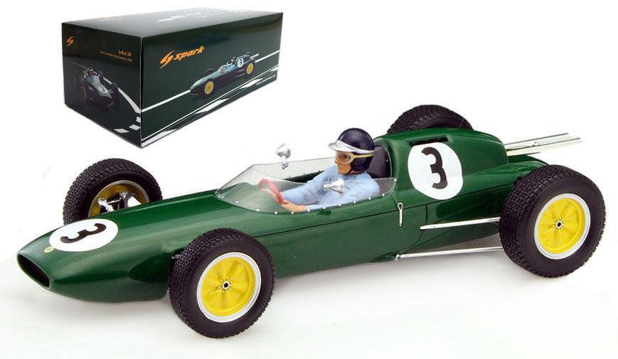 Lotus 24 3 Winner Lombank Trophy Snetterton 1962 Jim Clark 1/18 Model Car by Spark