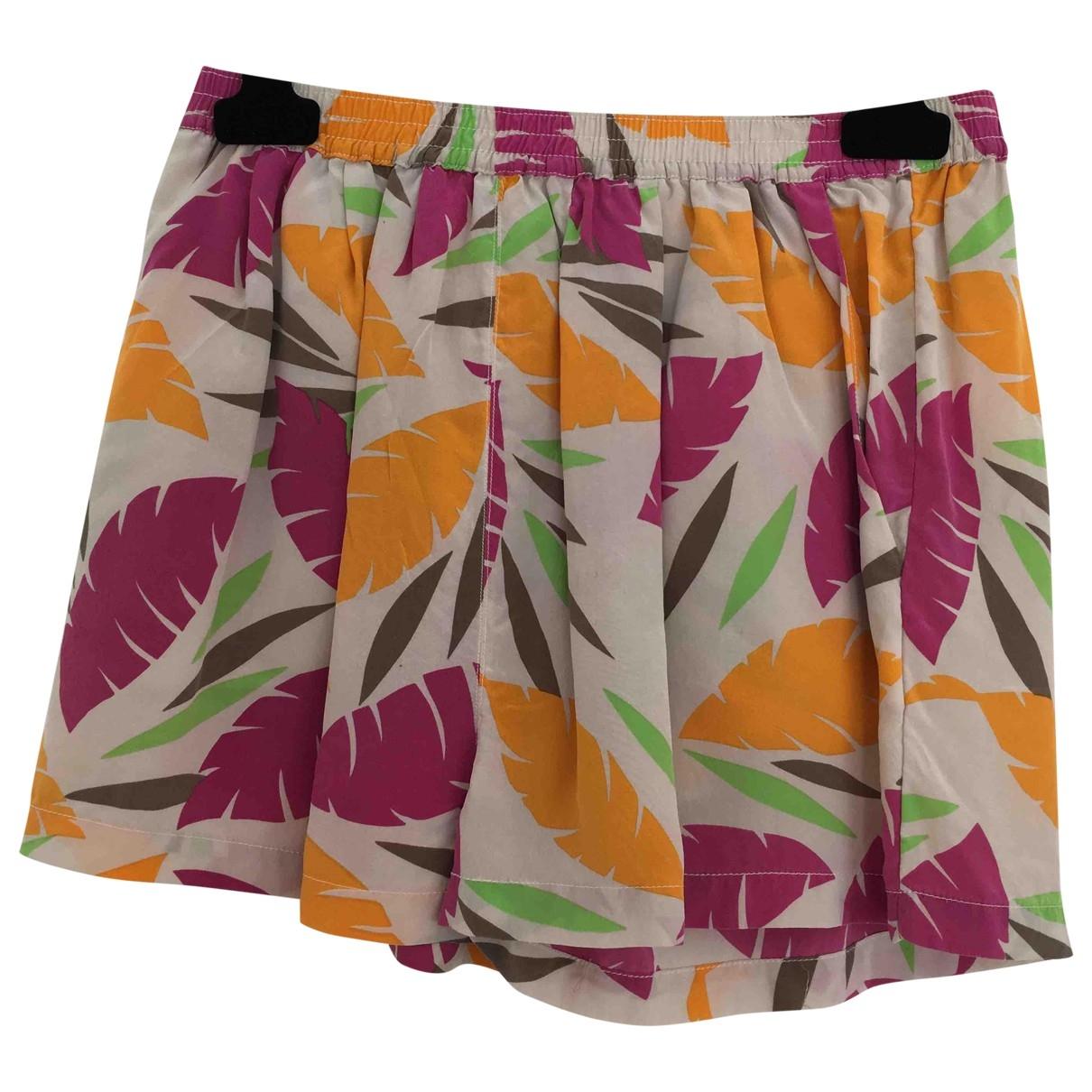 American Vintage \N Shorts in  Bunt Seide