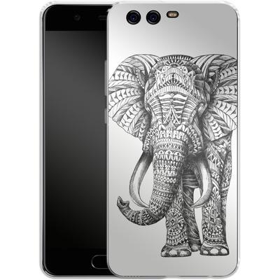 Huawei P10 Silikon Handyhuelle - Ornate Elephant von BIOWORKZ