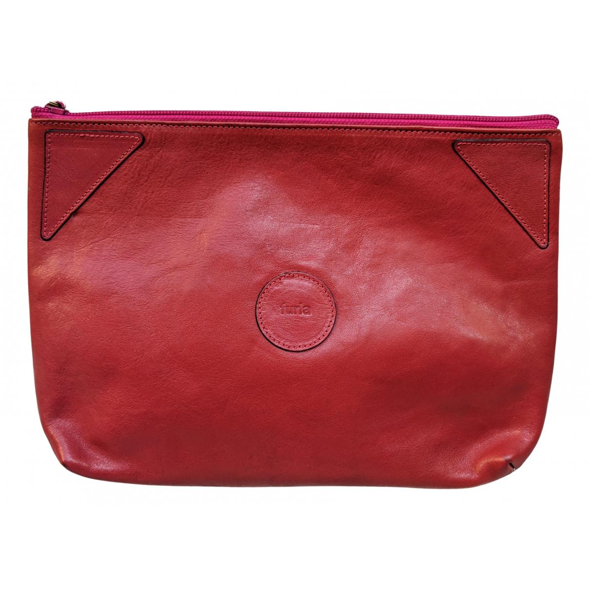 Furla \N Burgundy Leather Clutch bag for Women \N