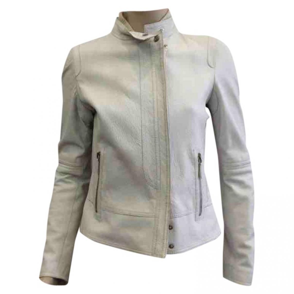 Gucci - Veste   pour femme en cuir - blanc