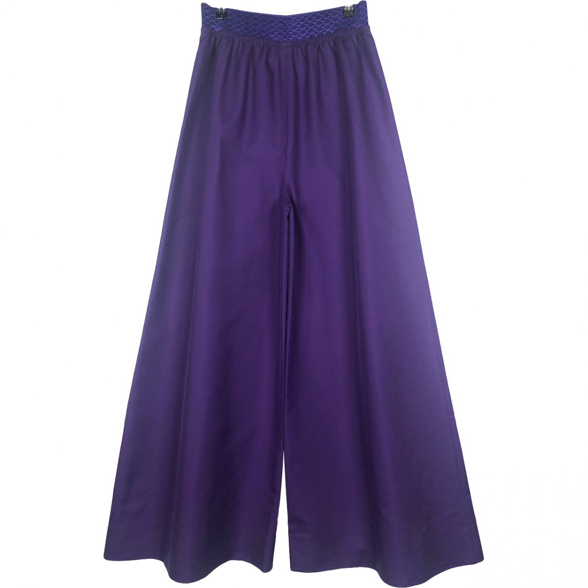 Non Signé / Unsigned \N Purple Cotton Trousers for Women S International