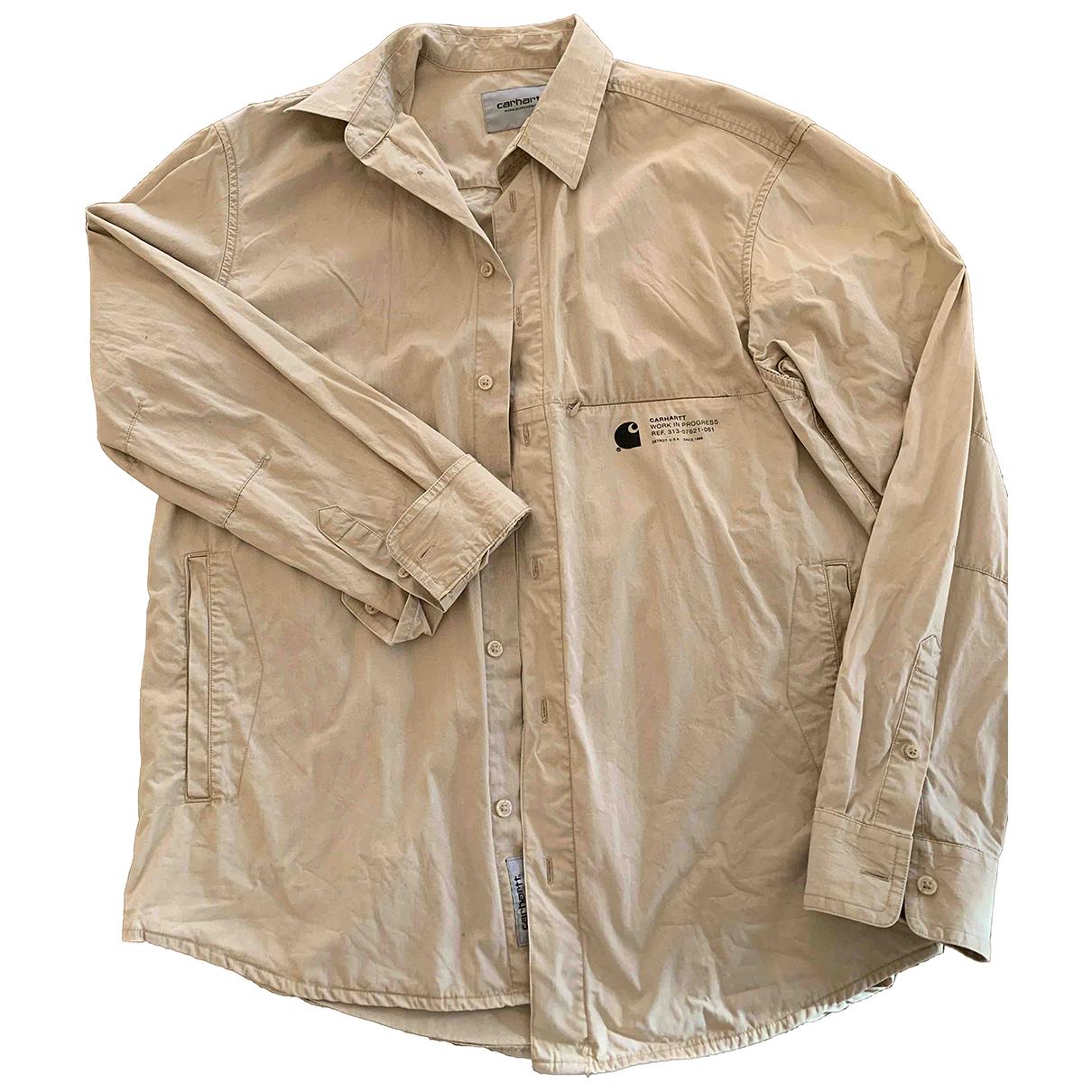 Carhartt Wip - Chemises   pour homme en coton - beige