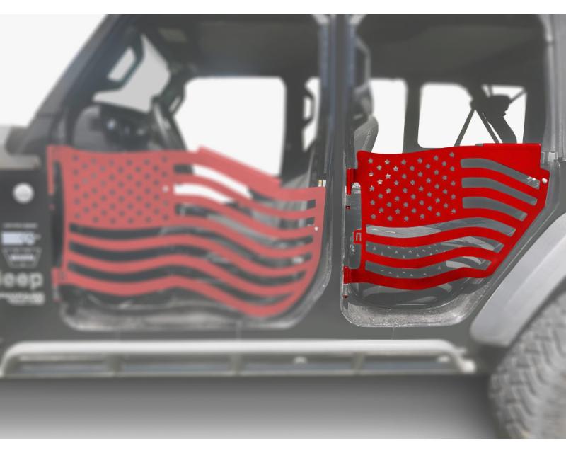 Steinjager J0049420 Doors Trail Red Baron Jeep Wrangler JL 2018+
