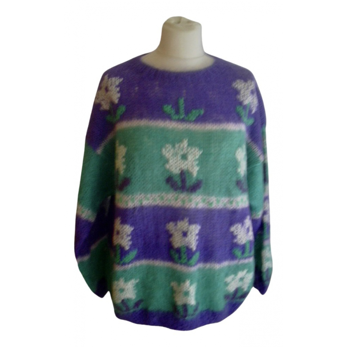 - Pull Oversize pour femme en laine - multicolore