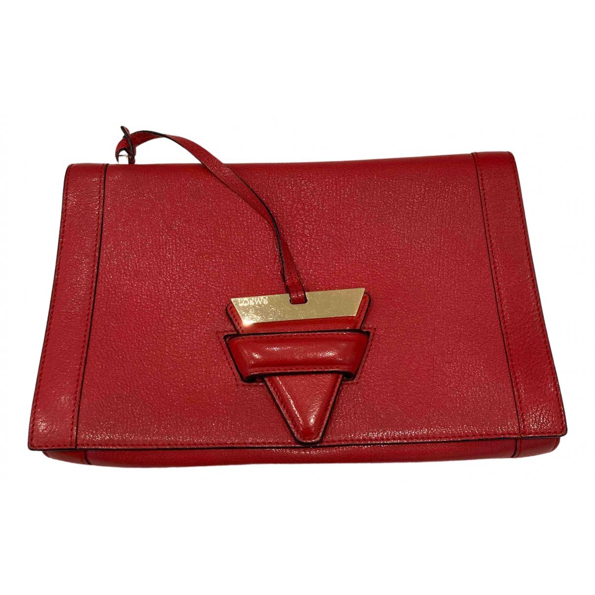 Loewe Barcelona Red Leather Clutch bag for Women N