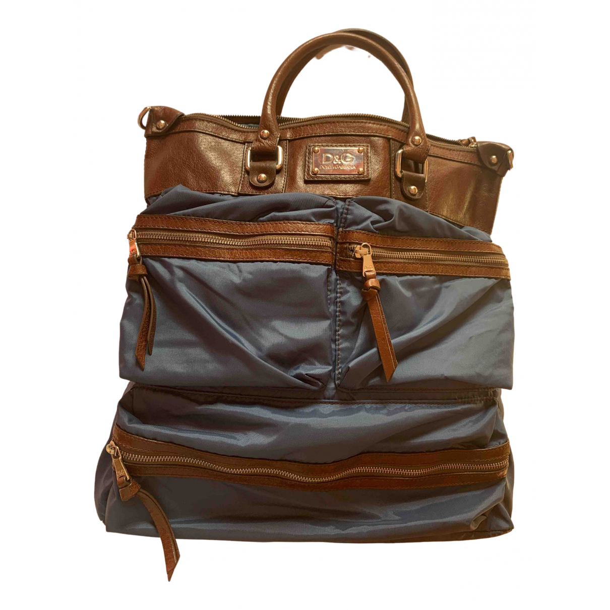 D&g N Brown Leather bag for Men N