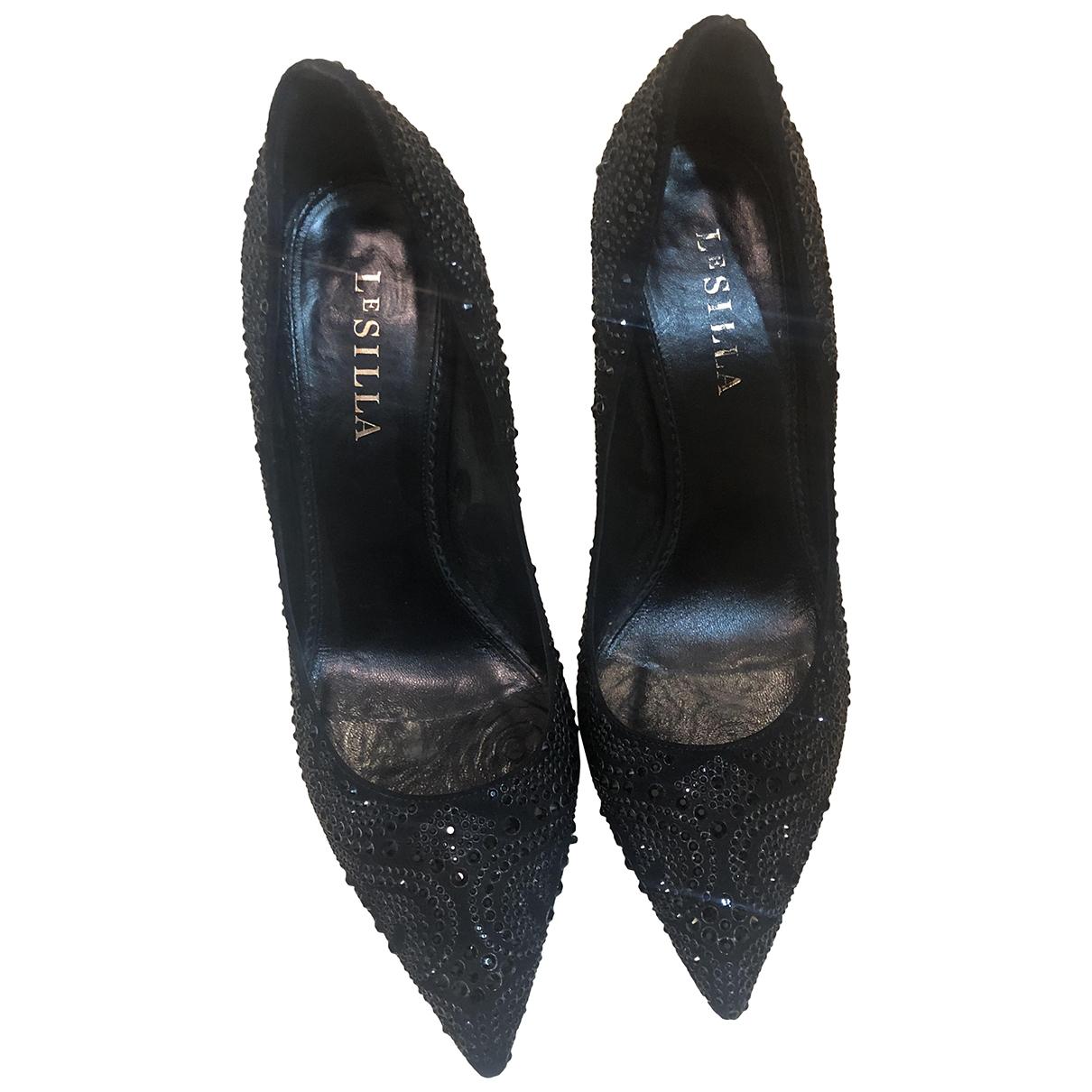 Le Silla - Escarpins   pour femme en cuir - noir