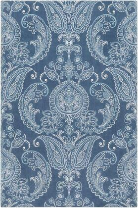 SPO1000-912 9' x 12' Rug  in Navy and Aqua and Denim and Ice Blue and Mint and
