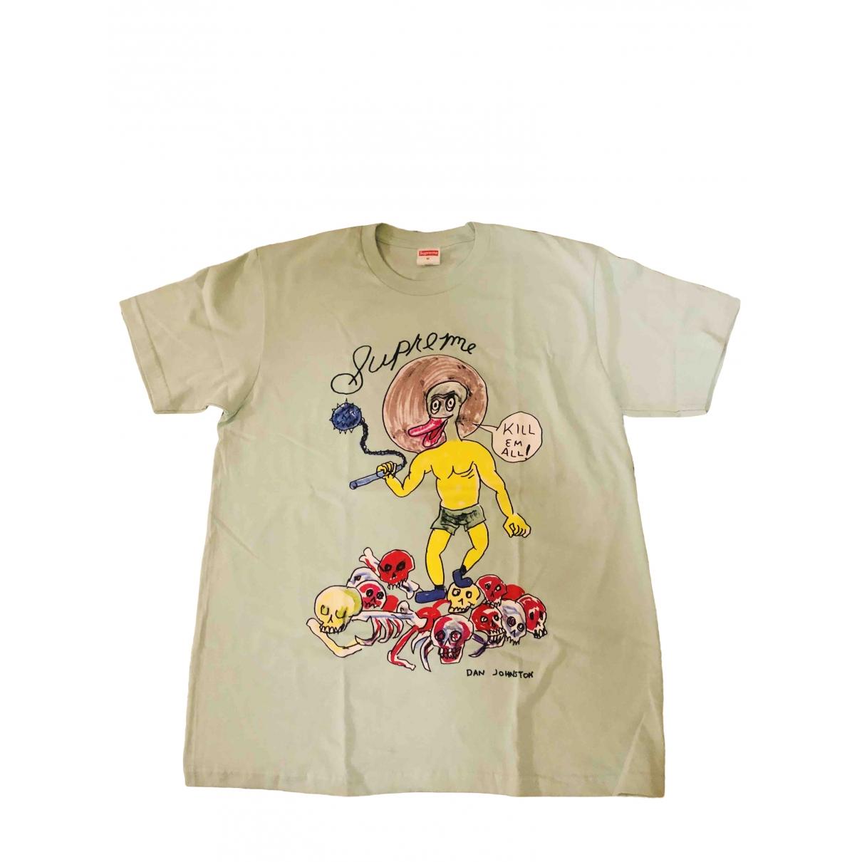 Supreme \N Turquoise Cotton T-shirts for Men M International
