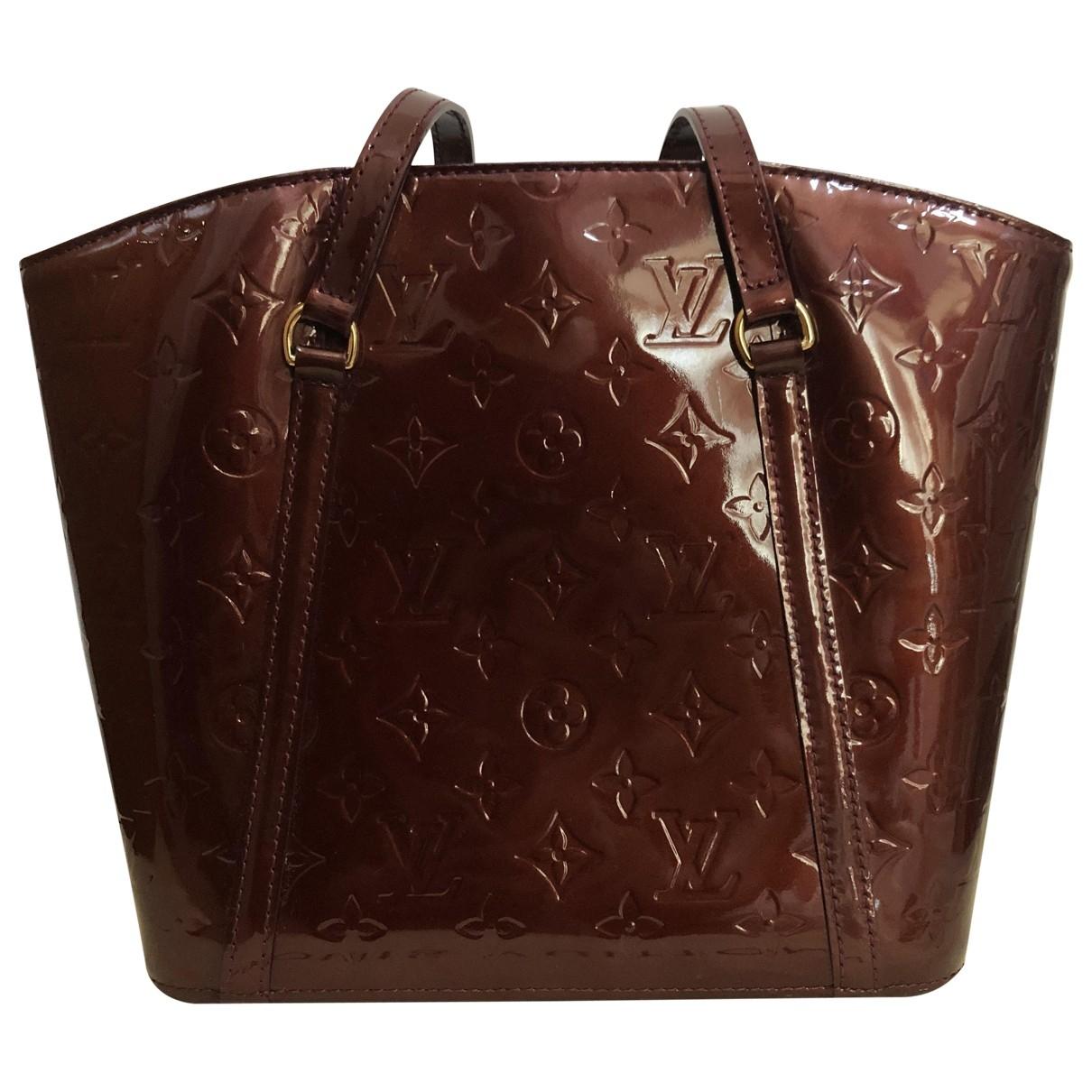 Louis Vuitton Avalon Handtasche in  Braun Lackleder