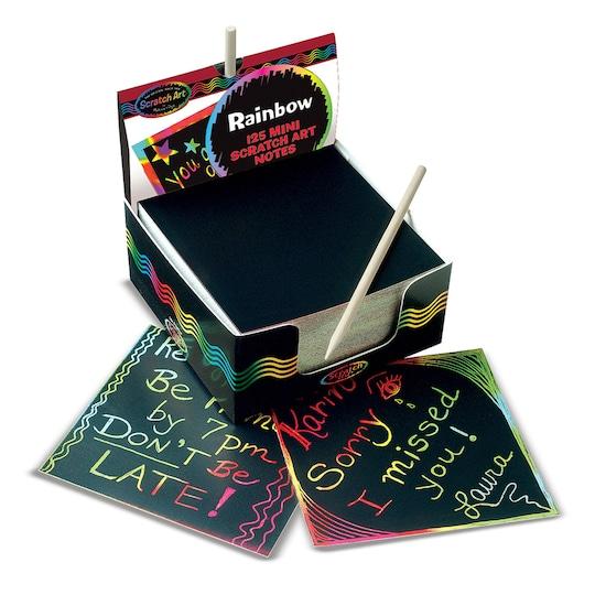 Scratch Art® Box Of Rainbow Mini Notes, 125 Per Pack, 3 Packs By Melissa & Doug   Michaels®