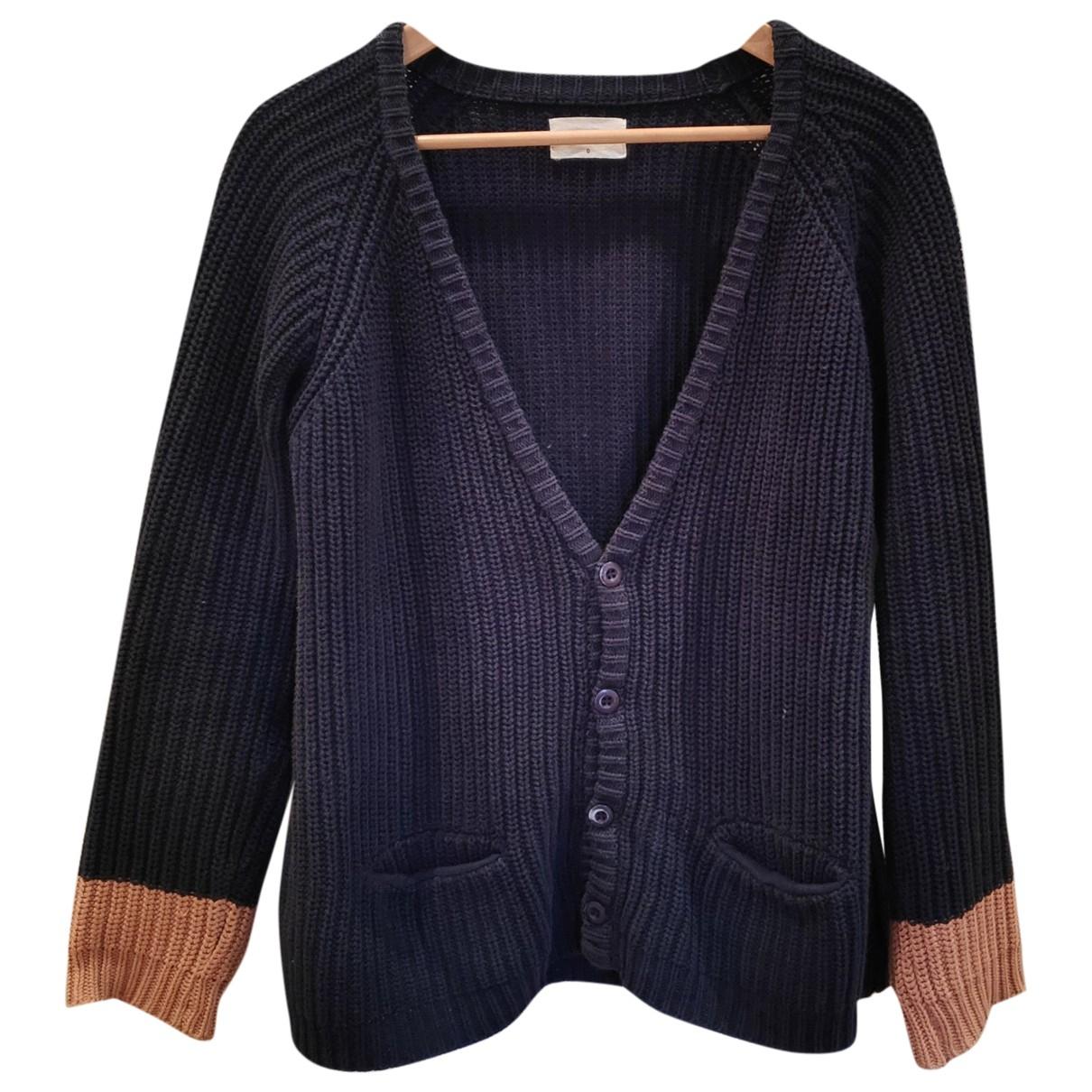 Ba&sh - Pull   pour femme en coton - bleu
