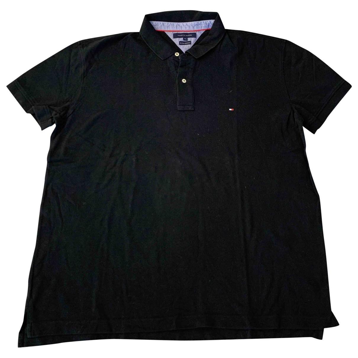 Tommy Hilfiger - Polos   pour homme en coton - noir