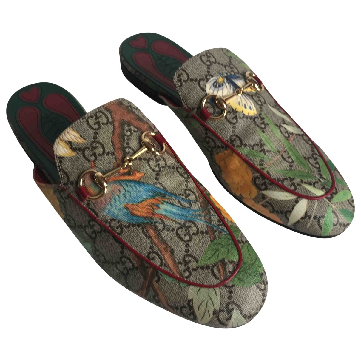 Gucci Princetown Multicolour Leather Flats for Women 39 EU