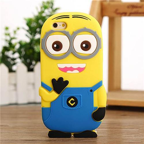 Soft Case Despicable Me Minions Silicone Back Cover Protective Phone Sell For iPhone 7 - Light blue