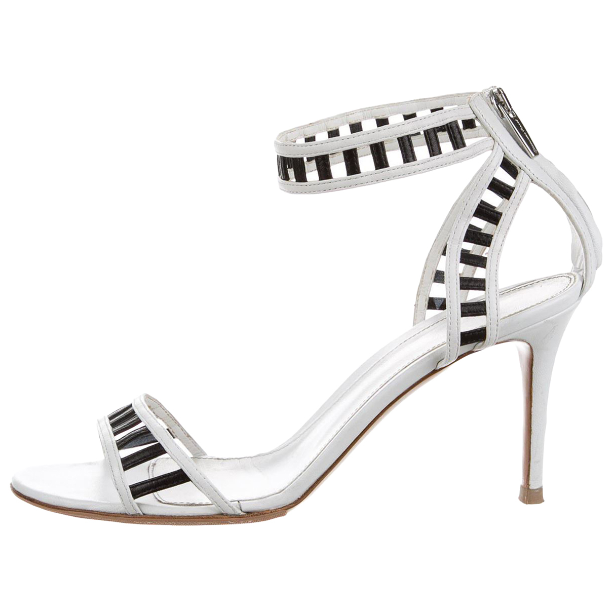 Gianvito Rossi N White Leather Heels for Women 38 EU