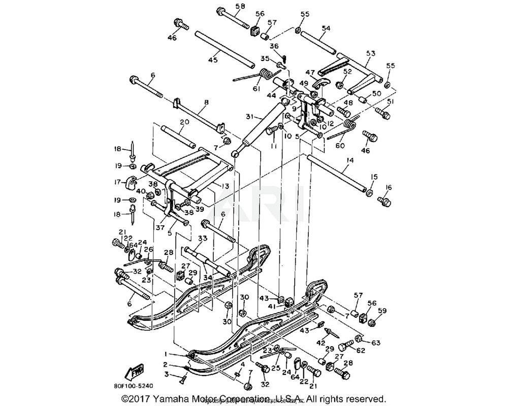 Yamaha OEM 8R4-47332-00-00 ARM, PIVOT 2