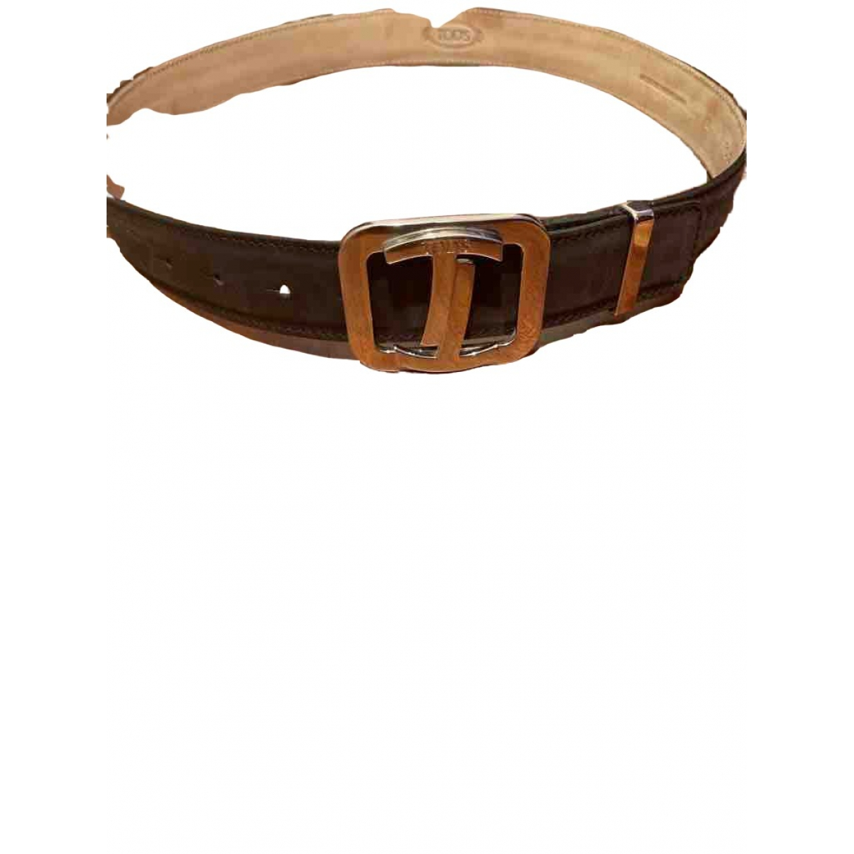 Tod's \N Brown Leather belt for Men 90 cm