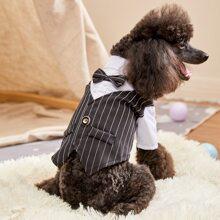 1 pieza camisa para perro de rayas