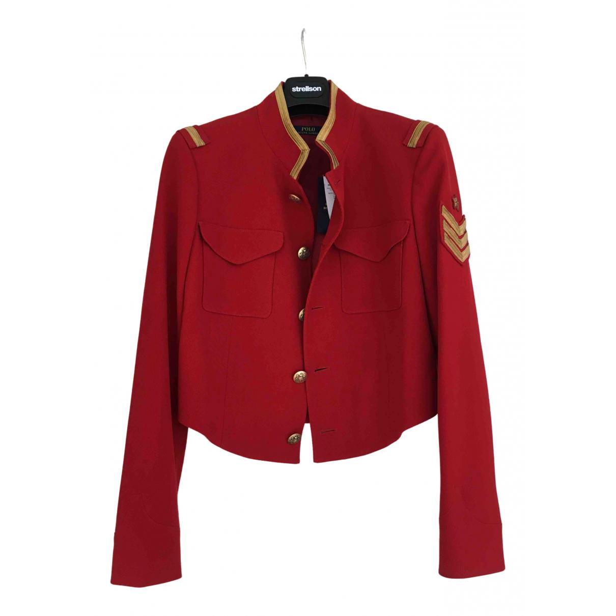 Polo Ralph Lauren - Veste   pour femme en laine - rouge