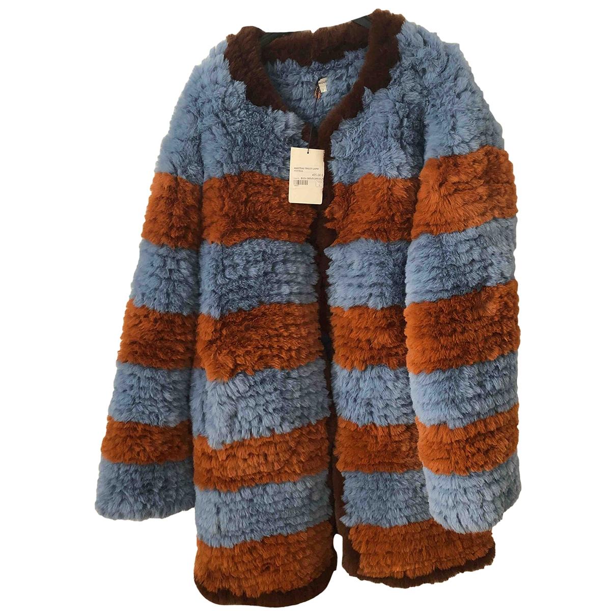 Manoush - Manteau   pour femme en lapin - bleu