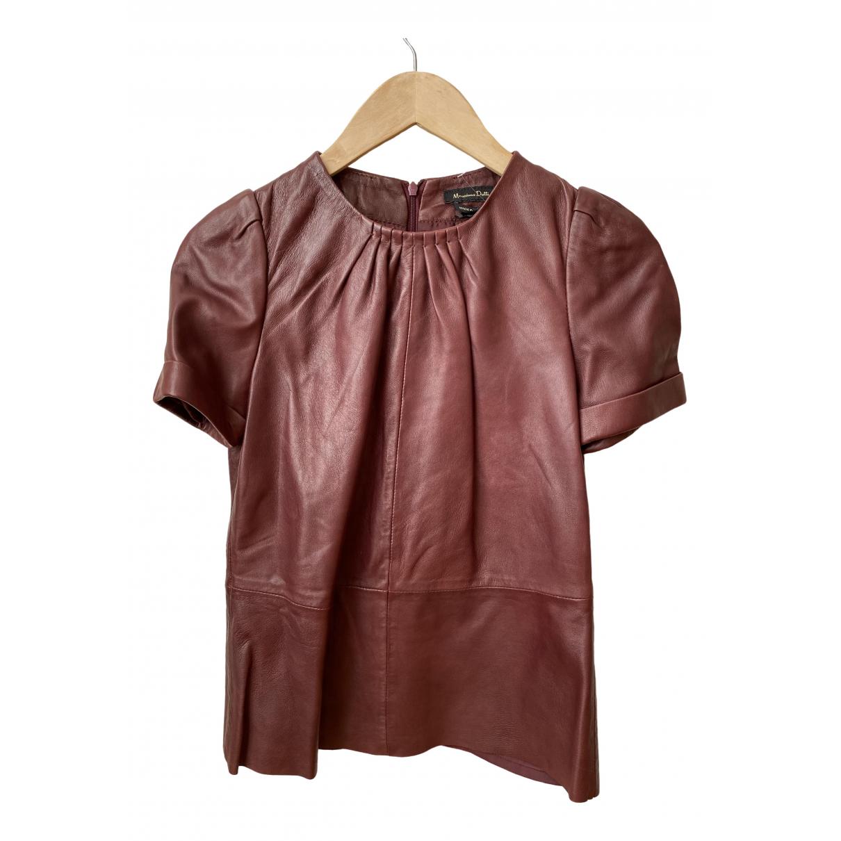 Massimo Dutti \N Burgundy Leather  top for Women XS International