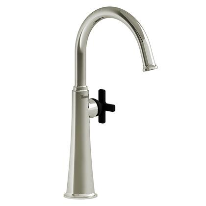 Momenti MMRDL01XPNBK-10 Single Hole Lavatory Faucet with X Cross Handle 1.0 GPM  in Polished