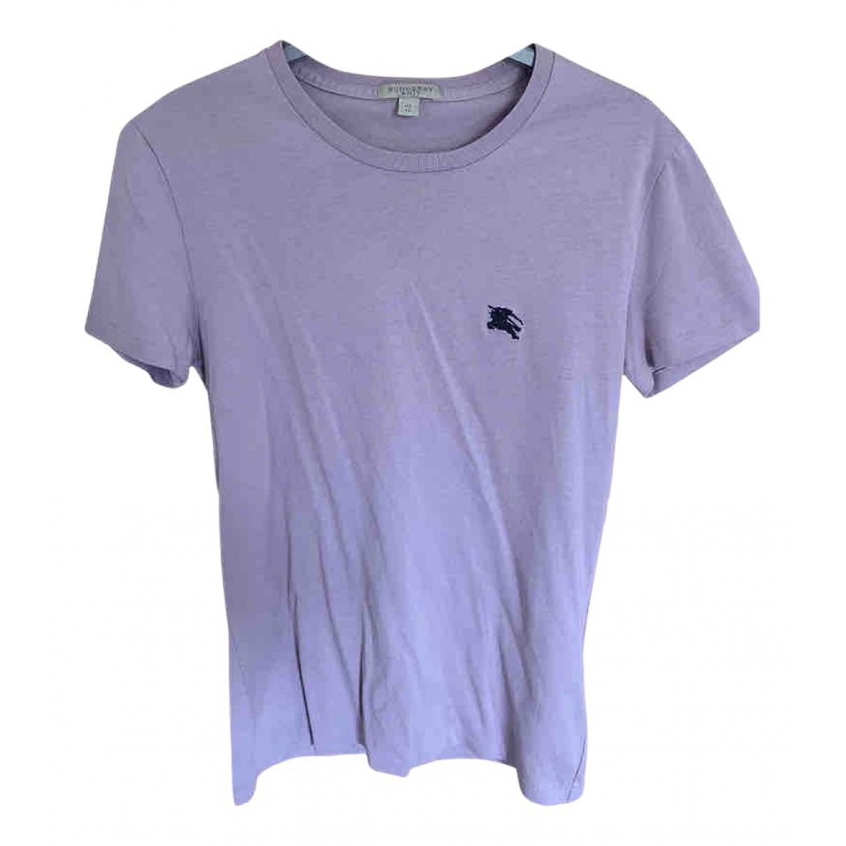 Burberry - Tee shirts   pour homme en coton - violet