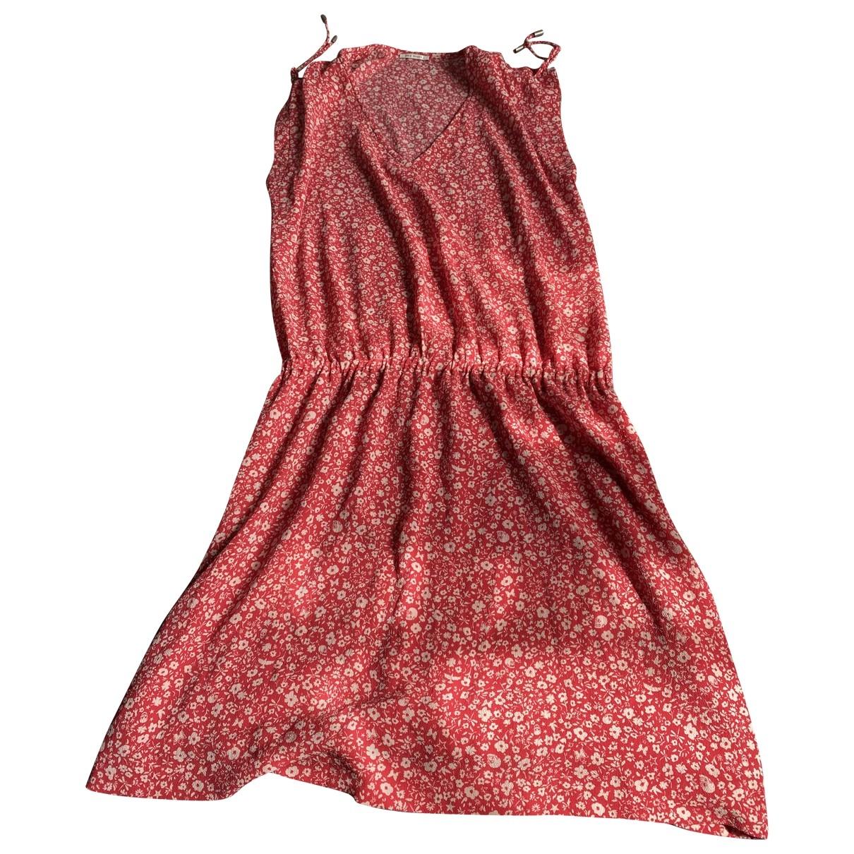 Ikks \N Red Silk dress for Women 40 FR